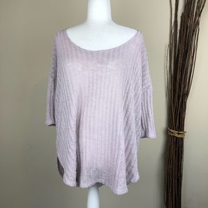 ECOTE | Lavender Purple Oversized Sweater Fall Med
